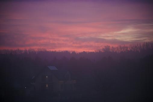 Sky Sunset Dusk Afterglow Pink