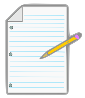 Paper And Pencil Game Animation Notebook Free Commercial Clipart