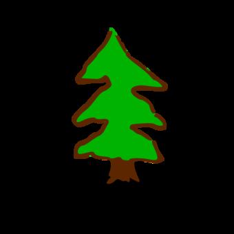 Map Symbolization Pine Tree Free Clipart