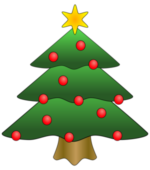 Christmas tree Cartoon Christmas ornament - free clipart