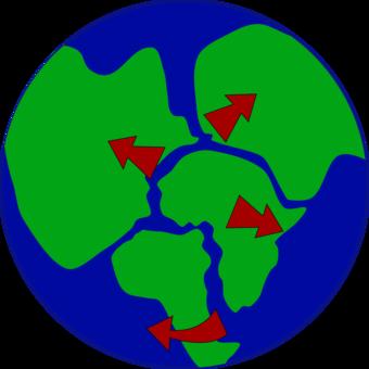 Earth Pangaea Plate Tectonics Divergent Boundary Seafloor Spreading