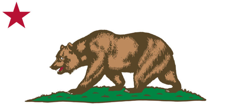 California Republic Flag Of Grizzly Bear