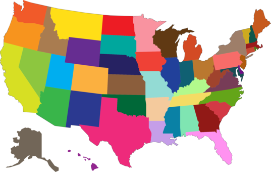 United States of America U.S. state Map Geographic Information ...