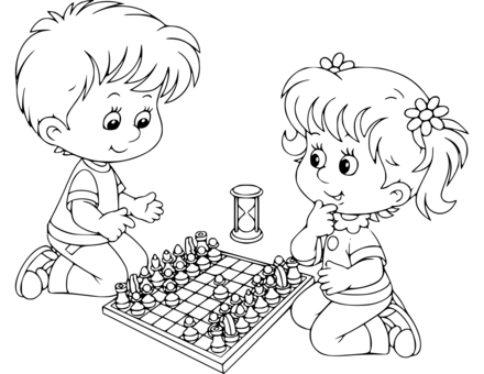 Chess coloring pages | Coloring pages to download and print | 340x440