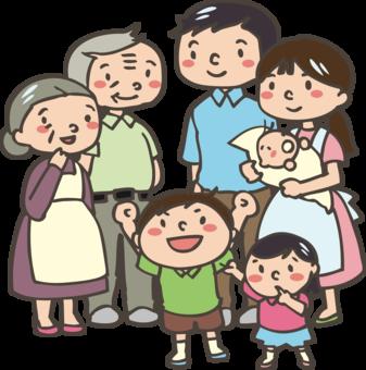 grandparent dark skin black cartoon family free commercial clipart