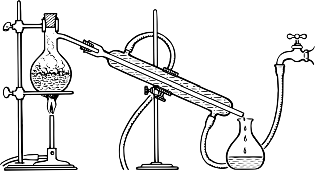 fractional distillation distilled water fractionating column salt