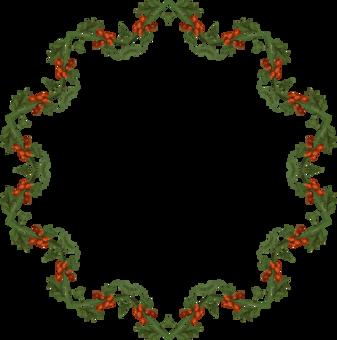 Christmas Day Wreath Garland Decoration Clip Art