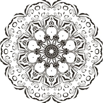 Floral Design Computer Icons Coloring Book Mandala Monochrome