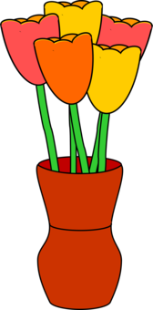 Flowerpot Houseplant Drawing Tulip Free Commercial Clipart