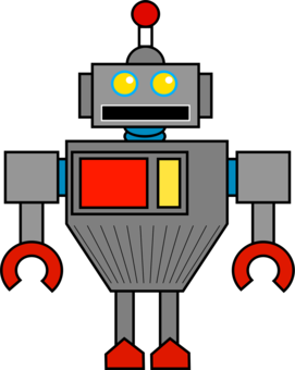 Humanoid Robot Drawing Angle Line Free Commercial Clipart Robot