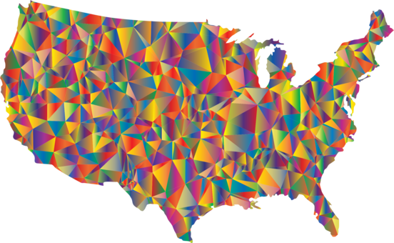 Outline of the United States Blank map Geography free commercial ...