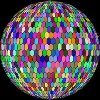 Hexagonal tiling Sphere Hex map Geometry CC0 - Ball,Symmetry,Area